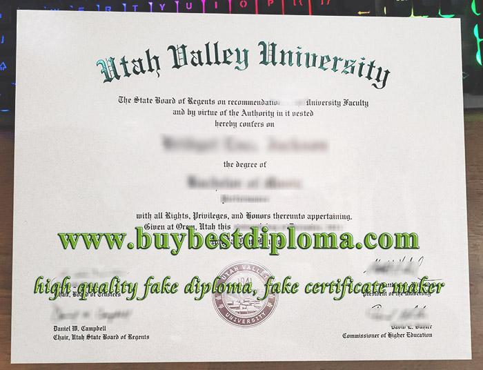 Utah Valley University diploma, fake UVU diploma, buy Utah Valley University degree,