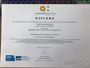 Arteveldehogeschool diploma, Artevelde University diploma, fake Belgium diploma,