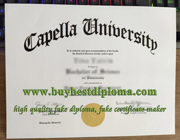 Capella University diploma, fake Capella University degree, Capella University certificate,
