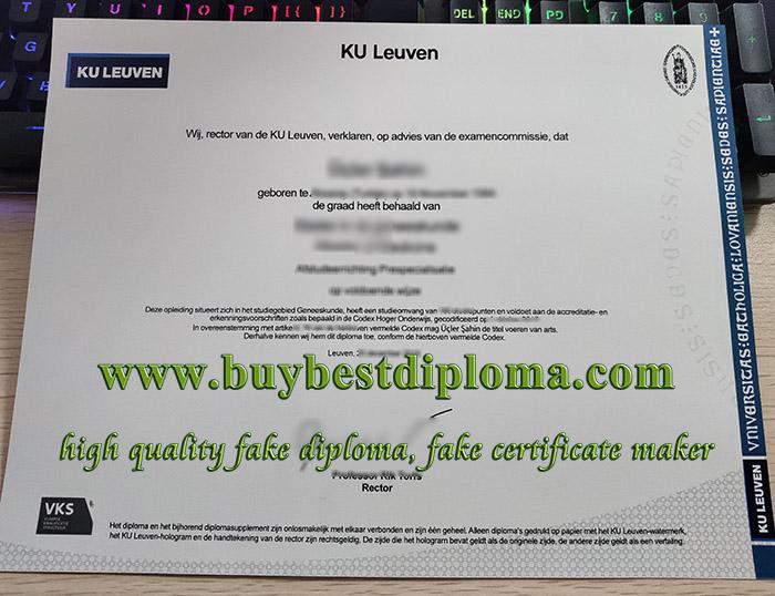 Katholieke Universiteit Leuven diploma, Catholic University of Leuven certificate, KU Leuven diploma,
