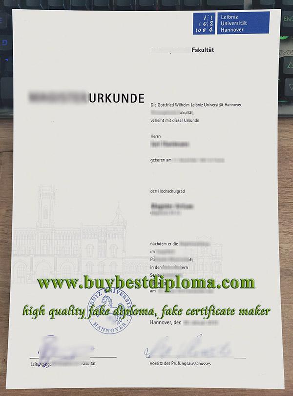 Leibniz Universität Hannover urkunde, Leibniz University Hannover diploma, fake Leibniz University certificate,