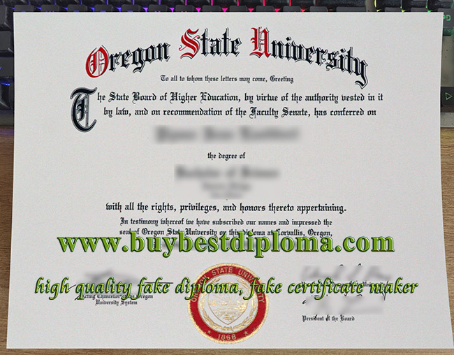 Oregon State University degree, Oregon State University diploma, fake Oregon State University certificate,