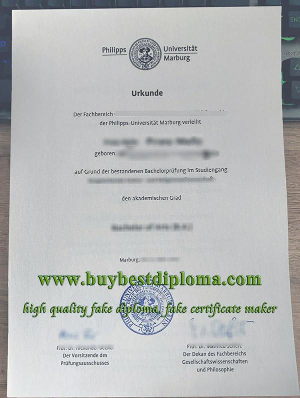 Philipps Universität Marburg urkunde, Philipps Universität Marburg certificate, University of Marburg diploma,