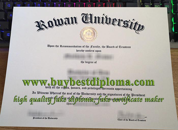 Rowan University diploma, Rowan University degree, Rowan University certificate,