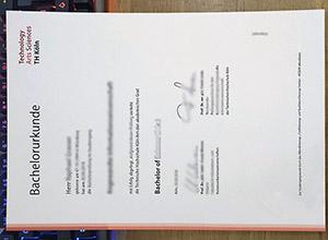 Technische Hochschule Köln bachelorurkunde, TU Köln degree, TH Köln University certificate,