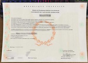 Université de Caen Normandie licence, Université de Caen Normandie diploma, University of Caen Normandy certificate,
