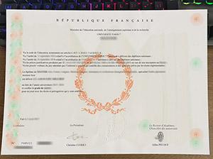 Université Paris 7 diploma, Université Paris Diderot licence, fake Paris Diderot University certificate,