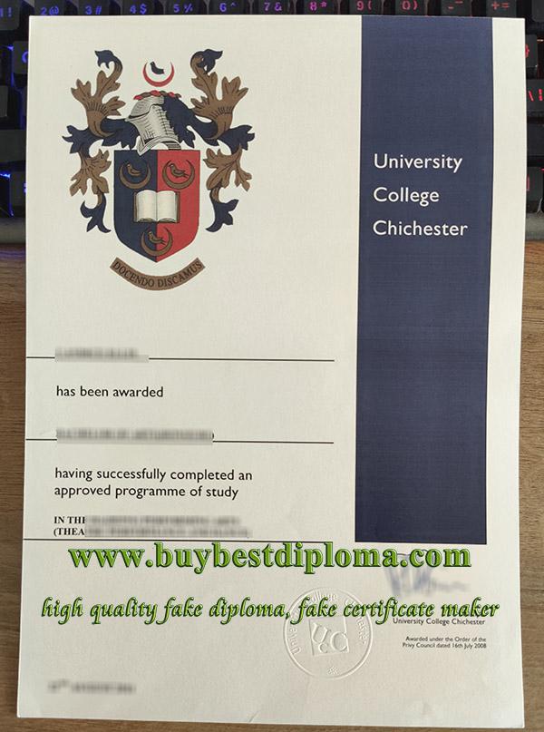 University College Chichester degree, fake University College Chichester diploma, University College Chichester certificate,