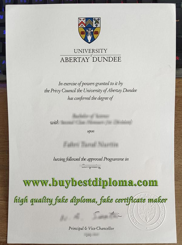 Abertay University degree, Abertay University diploma, fake Abertay University certificate,