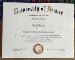 University of Denver diploma, fake University of Denver degree, University of Denver certificate,