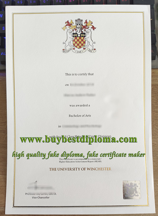 University of Winchester degree, University of Winchester diploma, fake University of Winchester certificate,