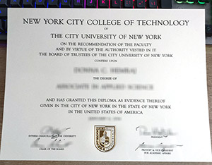 New York City College of Technology diploma, fake City Tech diploma, City University of New York degree,