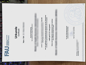 fake Universität Erlangen-Nürnberg urkunde, fake UNI FAU diploma, Friedrich-Alexander-Universität Erlangen-Nürnberg degree,