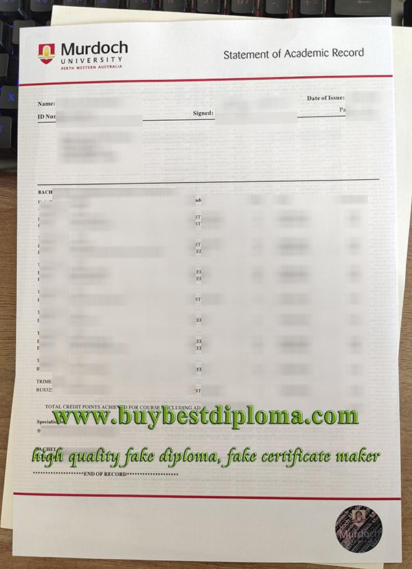 Murdoch University transcript, fake Murdoch University certificate, fake Murdoch University diploma,