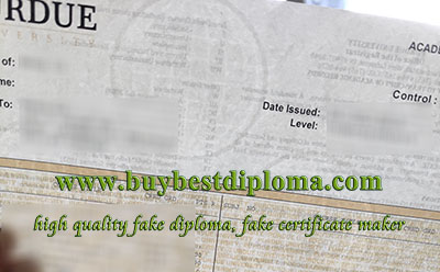 fake Purdue University transcript, watermark paper,