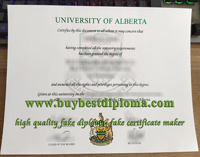 University of Alberta diploma, fake University of Alberta degree, University of Alberta certificate,
