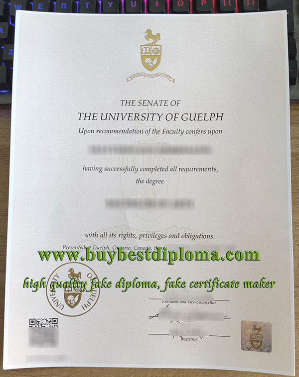 University of Guelph diploma, University of Guelph degree, University of Guelph certificate,