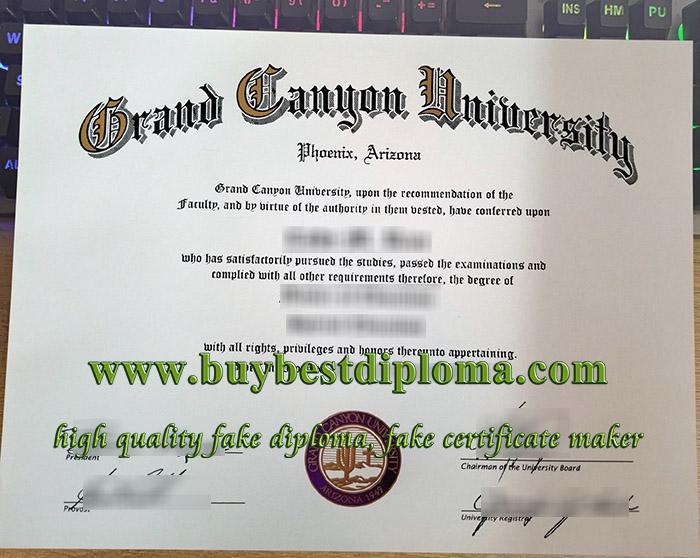 Grand Canyon University diploma, Grand Canyon University certificate, fake Grand Canyon University degree,