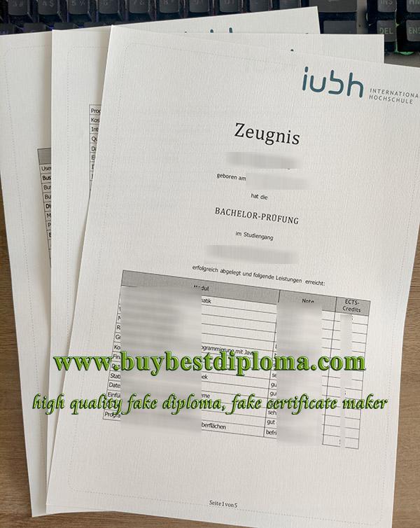IUBH Internationale Hochschule zeugnis, IUBH Internationale Hochschule certificate, IUBH University certificate,