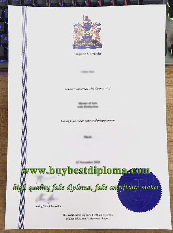 Kingston University degree, Kingston University diploma, fake Kingston University certificate,