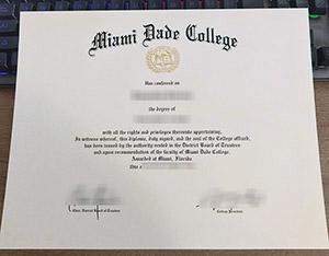 Miami Dade College diploma, Miami Dade College degree, fake Miami Dade College certificate,