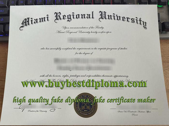 Miami Regional University diploma, Miami Regional University degree, fake Miami Regional University certificate,