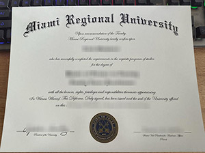 Miami Regional University diploma, Miami Regional University degree, fake Miami Regional University certificate,