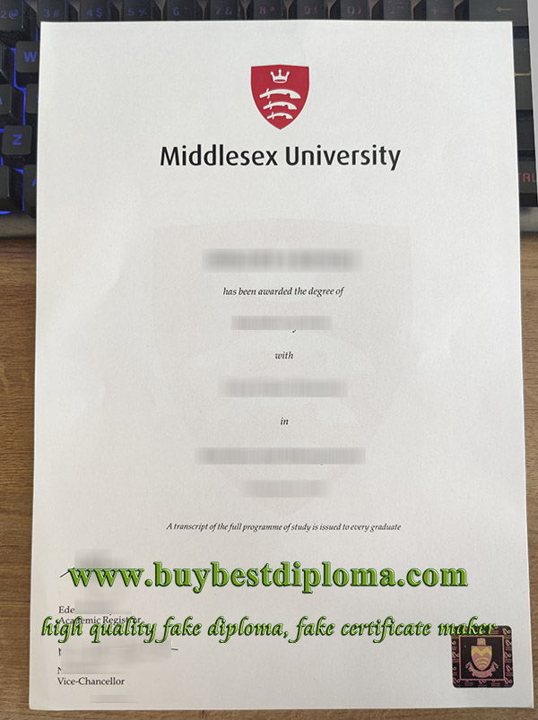 Middlesex University diploma, Middlesex University degree, Middlesex University certificate, 密德萨斯大学文凭,