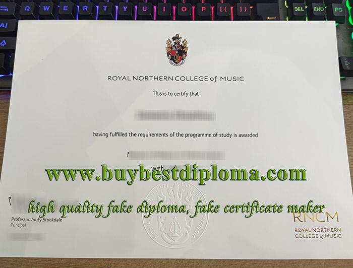 Royal Northern College of Music diploma, Royal Northern College of Music degree, fake RNCM certificate,