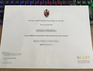 Royal Northern College of Music diploma, Royal Northern College of Music degree, fake RNCM certificate,