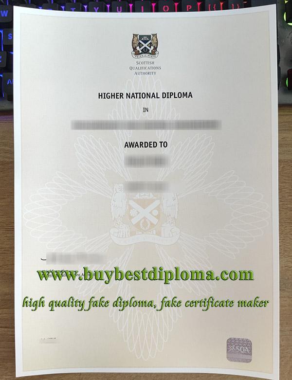 Scotland Higher National Diploma, fake SQA certificate, fake HND certificate,