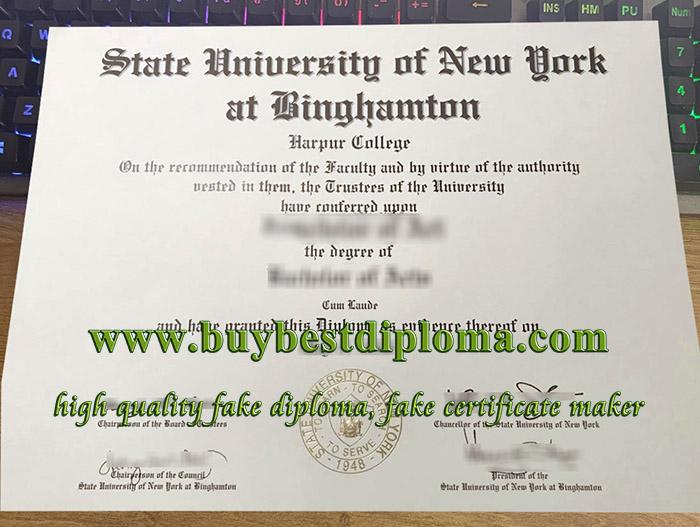 Binghamton University SUNY diploma, fake Binghamton University certificate, SUNY Binghamton University degree,