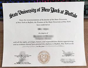 University at Buffalo diploma, SUNY at Buffalo certificate, Baffalo University certificate,