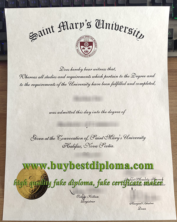 Saint Mary's University diploma, Saint Mary's University degree, Saint Mary's University certificate, 圣玛丽大学文凭,