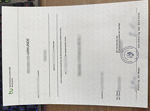 Technische Universität Dortmund urkunde, Technical University Dortmund diploma, TU Dortmund certificate,