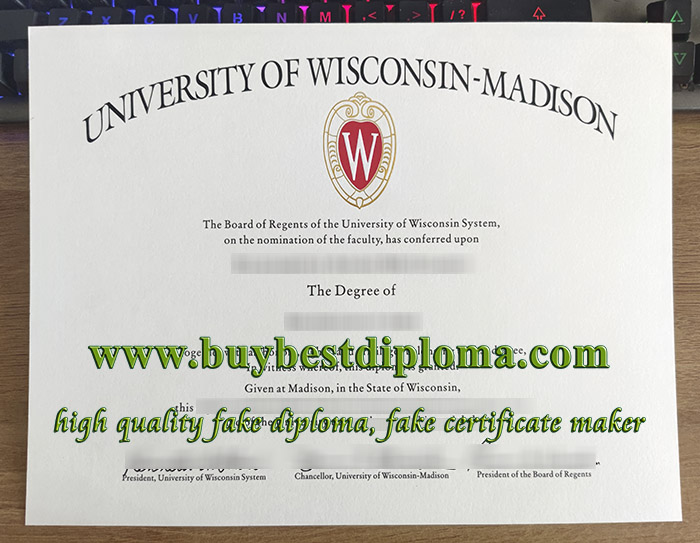 University of Wisconsin-Madison diploma, University of Wisconsin-Madison degree, fake UW-Madison certificate, 威斯康星大学毕业证,