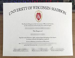 University of Wisconsin—Madison diploma, University of Wisconsin—Madison degree, fake UW-Madison certificate, 威斯康星大学毕业证,