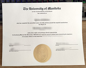 University of Manitoba diploma, University of Manitoba degree, University of Manitoba certificate, 曼尼托巴大学毕业证,