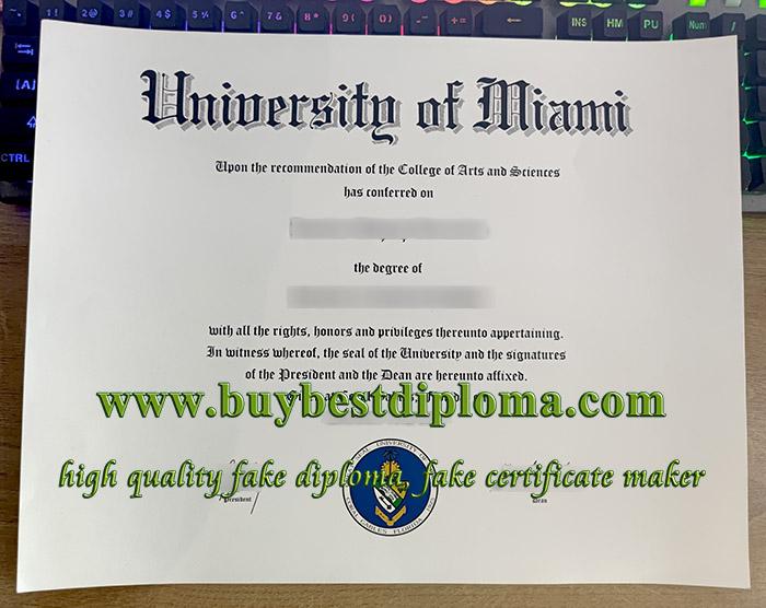 University of Miami diploma, University of Miami degree, fake University of Miami certificate,