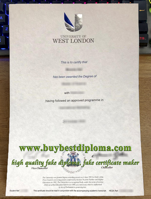 University of West London degree, University of West London diploma, fake University of West London certificate 2020,