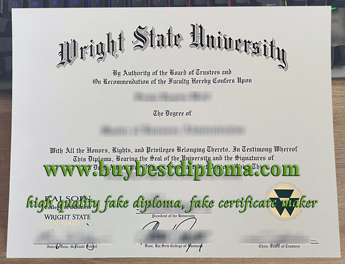 Wright State University diploma, Wright State University degree, Wright State University certificate, 莱特州立大学毕业证,