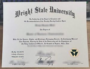 Wright State University diploma, Wright State University degree, Wright State University certificate, 莱特州立大学毕业证,