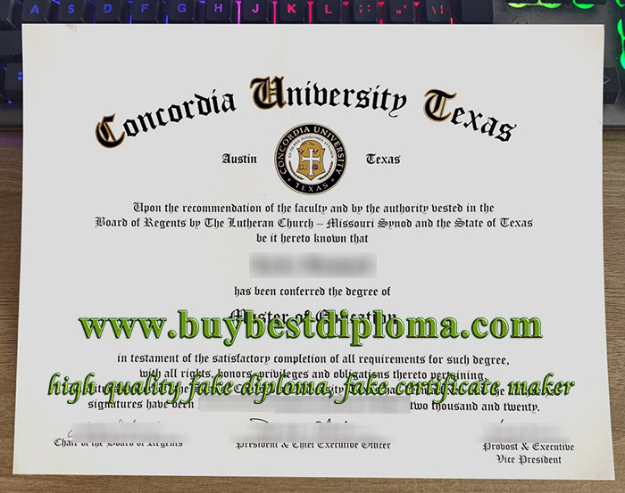 Concordia University Texas diploma, Concordia University Texas degree, Concordia University Texas certificate, 康卡迪亚大学-奥斯丁毕业证,
