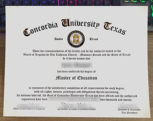 Concordia University Texas diploma, Concordia University Texas degree, Concordia University Texas certificate, 康卡迪亚大学-奥斯丁毕业证,