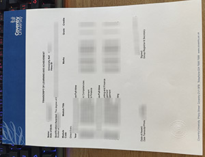 Coventry University transcript, Coventry University certificate, 考文垂大学成绩单,