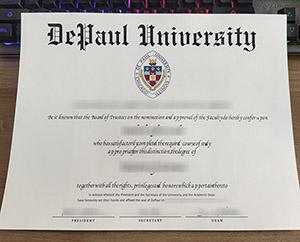 DePaul University degree, DePaul University diploma, DePaul University certificate, 德保罗大学证书,