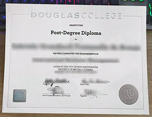 道格拉斯学院新版毕业证, Douglas College diploma, new Douglas College certificate, Douglas College degree,