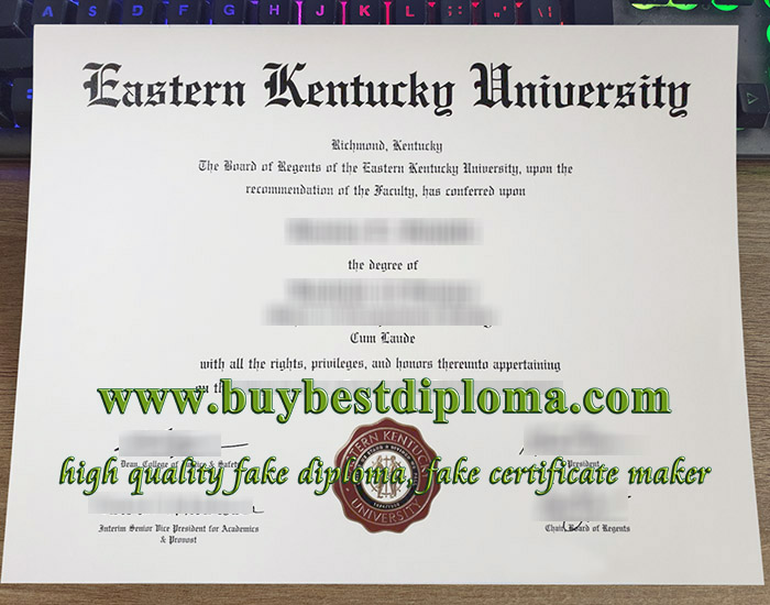 Eastern Kentucky University degree, Eastern Kentucky University diploma, fake EKU certificate, 东肯塔基州大学毕业证,