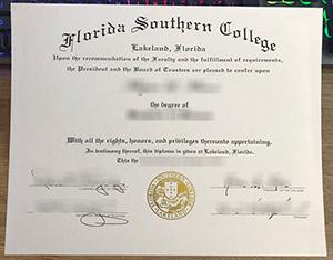 Florida Southern College diploma, Florida Southern College degree, fake FSC certificate, 佛罗里达南方学院文凭,