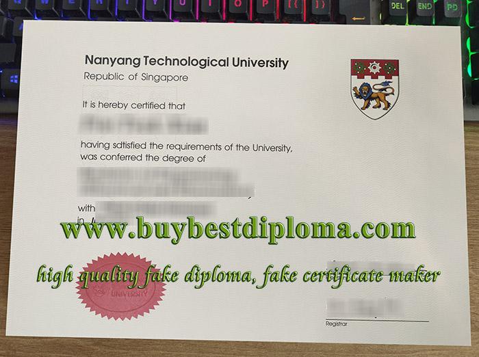 Nanyang Technological University degree, Nanyang Technological University certificate, fake NTU diploma, 南洋理工大学毕业证,